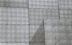 Cubes and lines. Abstract photograph of a metal building Stock Photo