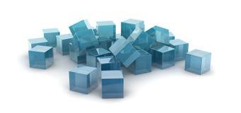 Cubes métalliques Photos stock