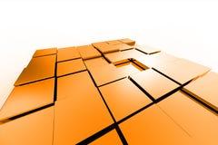 Cubes métalliques en couleur Photos stock