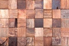Cubes made ​​of wood Royalty Free Stock Photos