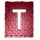 Cubes makes the letter t Royalty Free Stock Image