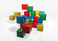 Cubes Massive Attack Royalty Free Stock Photography