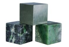 Cubes of minerals Royalty Free Stock Photo