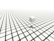 Cubes with missing piece Royalty Free Stock Photo