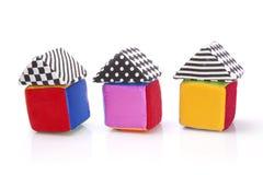 Cubes mous en couleur Image stock