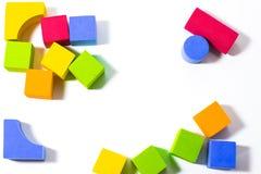 Cubes multicolores Photos libres de droits