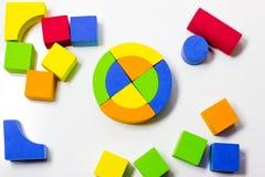 Cubes multicolores Photo libre de droits