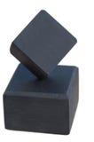 Cubes noirs Photos stock