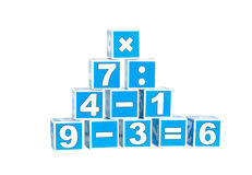 Cubes with numbers royalty free stock photography