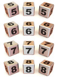 Cubes with numbers Stock Photography