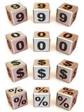 Cubes with numbers Stock Image