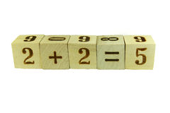 Cubes with numbers Royalty Free Stock Photo