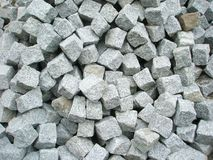 Cubes of obblestone Stock Images