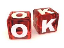 cubes ok Стоковые Фотографии RF