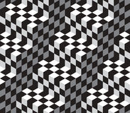 Cubes Optical Illustion Vector Seamless Pattern. Black and White Cubes Optical Illustion Vector Seamless Pattern. Can be used as Background Royalty Free Stock Images