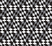 Cubes Optical Illustion Vector Seamless Pattern. Black and White Cubes Optical Illustion Vector Seamless Pattern. Can be used as Background Royalty Free Stock Photography