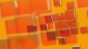Cubes oranges en rotation de fond avec les bords mous illustration de vecteur