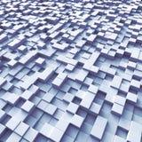 Cubes organisés comme terrain Image stock