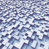 Cubes organized as a terrain stock image