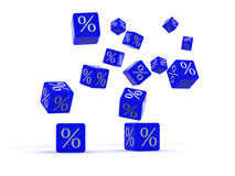 Cubes with percent Stock Images