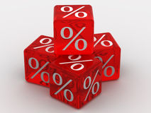 Cubes with percent Royalty Free Stock Photo