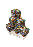 Cubes with photos Royalty Free Stock Photos
