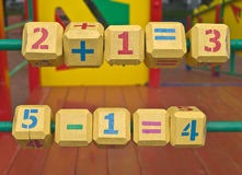 Cubes on playground Royalty Free Stock Image