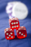 Cubes for poker Royalty Free Stock Photos