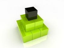 Cubes pyramid Royalty Free Stock Photo