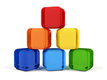 Cubes in rainbow colors. Stock Photography