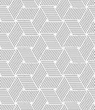 Cubes rayés gris minces monochromes Images stock