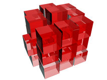 Cubes in red Stock Images