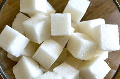 Cubes of refined sugar royalty free stock images