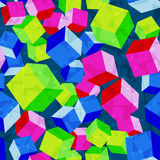Cubes rhombus seamless pattern vector Stock Photos