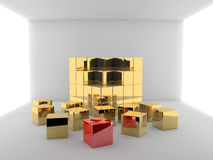 Cubes in a room Stock Photos