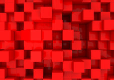 Cubes rouges Photos libres de droits