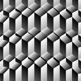 Cubes rows optical illusion Stock Photography