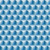 Cubes rows optical illusion background abstract. Cubes boxes rows in a blue optical illusion background abstract stock illustration