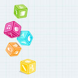 Cubes school Stock Images
