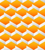 Cubes seamlessly repeatable pattern, 3d geometric background. Royalty Free Stock Photo