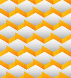 Cubes seamlessly repeatable pattern, 3d geometric background. Royalty Free Stock Images