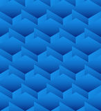 Cubes seamlessly repeatable pattern, 3d geometric background. Royalty Free Stock Photography