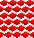 Cubes seamlessly repeatable pattern, 3d geometric background. Stock Photography