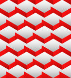 Cubes seamlessly repeatable pattern, 3d geometric background. Stock Image