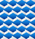 Cubes seamlessly repeatable pattern, 3d geometric background. Royalty Free Stock Photos