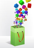 Cubes shopper Royalty Free Stock Image