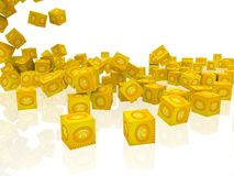 Cubes with smiley face Royalty Free Stock Image