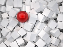 Cubes and sphere Royalty Free Stock Photos