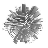 Cubes sphere Royalty Free Stock Images