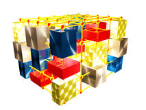 Cubes and spheres Royalty Free Stock Image